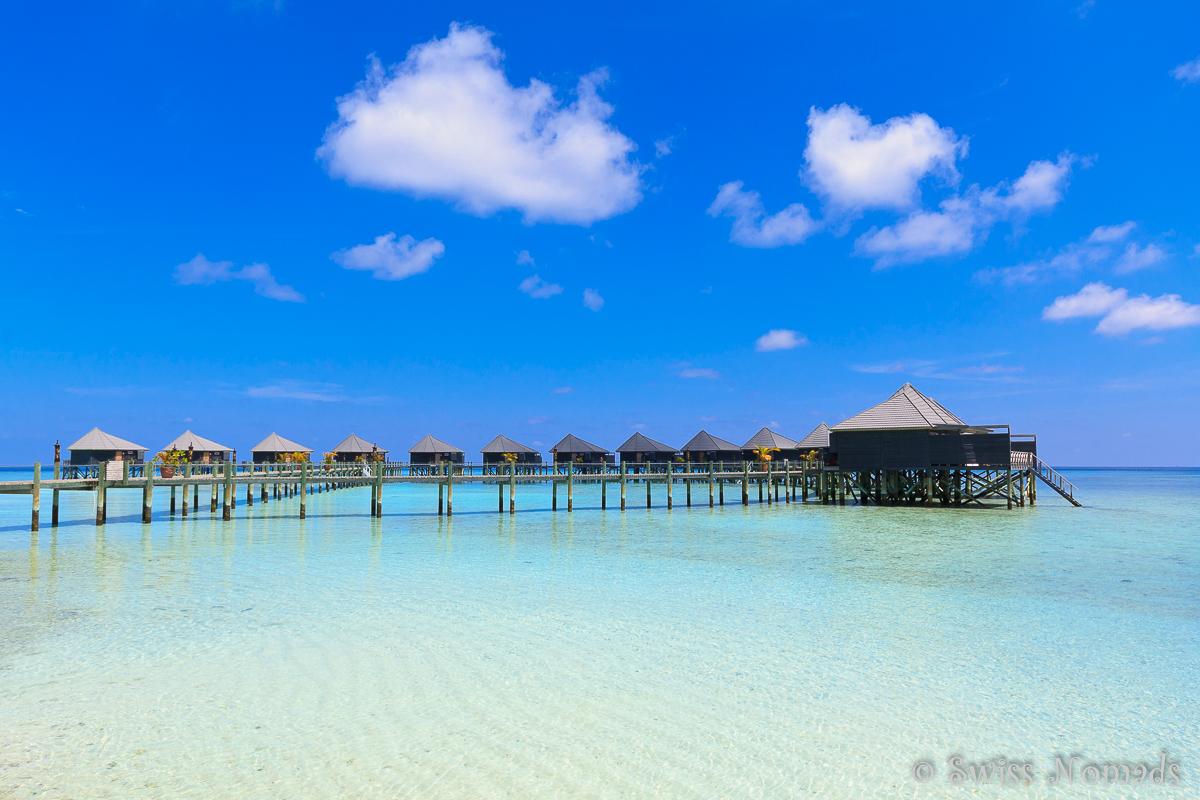 Malediven Reisetipps Wasserbungalows