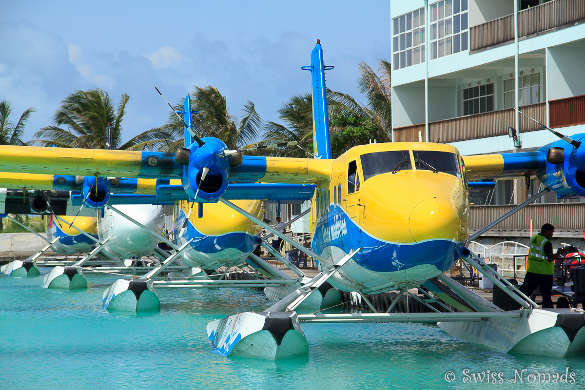 Malediven Reisetipps mit Wasserflugzeugen zu den Inseln