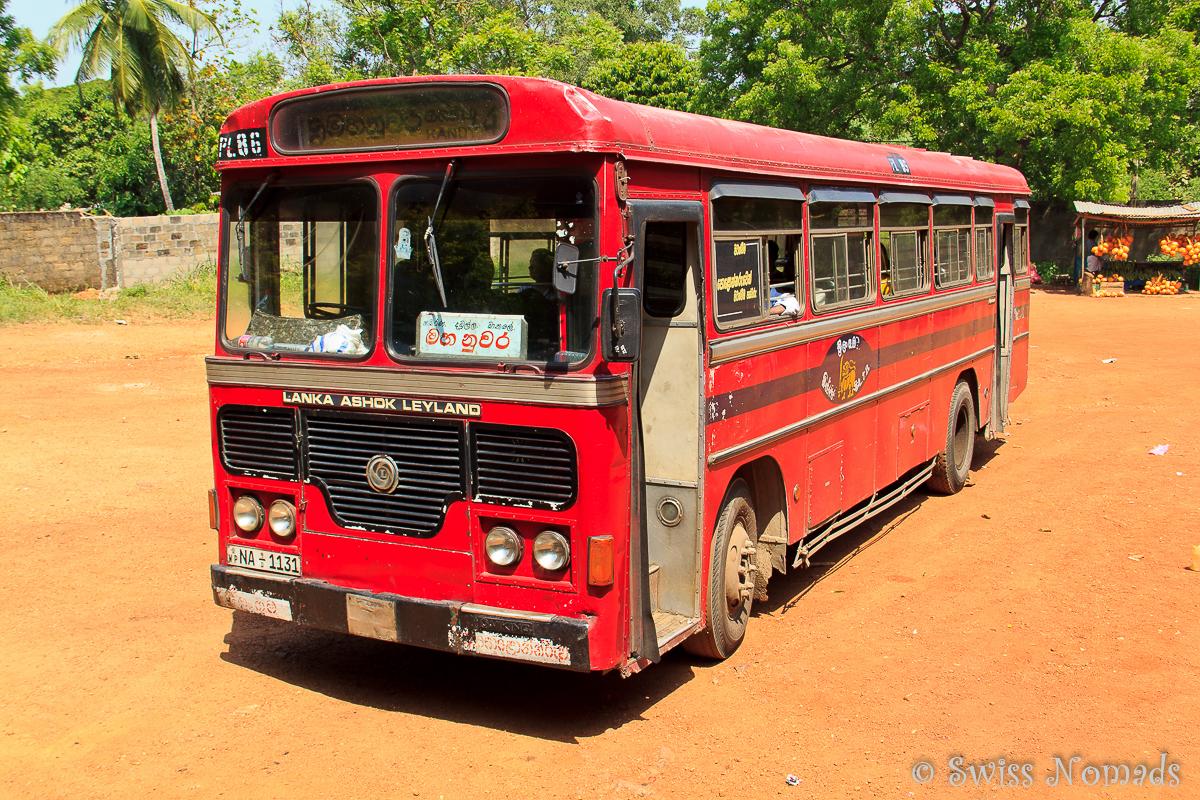 Sri Lanka Reisetipps - mit dem Bus unterwegs